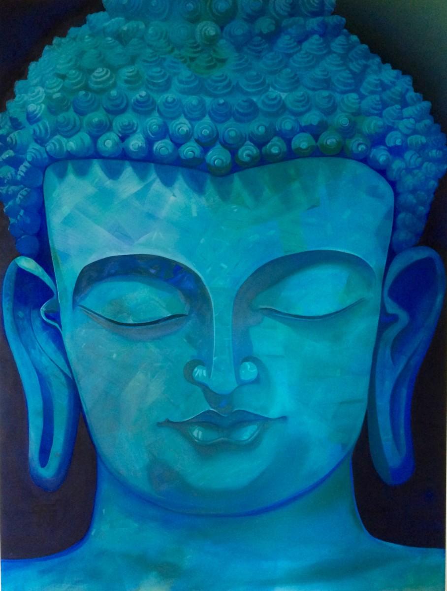 Blue Opal Buddha